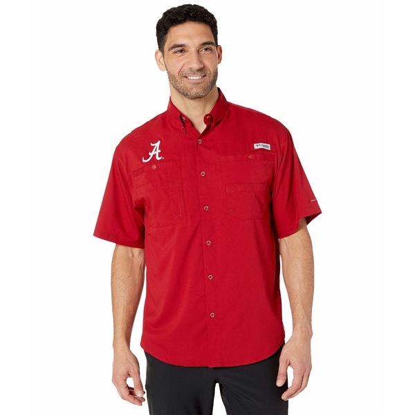 コロンビアカレッジ メンズ シャツ トップス Alabama Crimson Tide Collegiate Tamiami II Short Sleeve Shirt Red Velvet