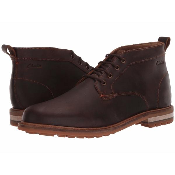 クラークス メンズ ブーツ&レインブーツ シューズ Foxwell Mid Beeswax Leather