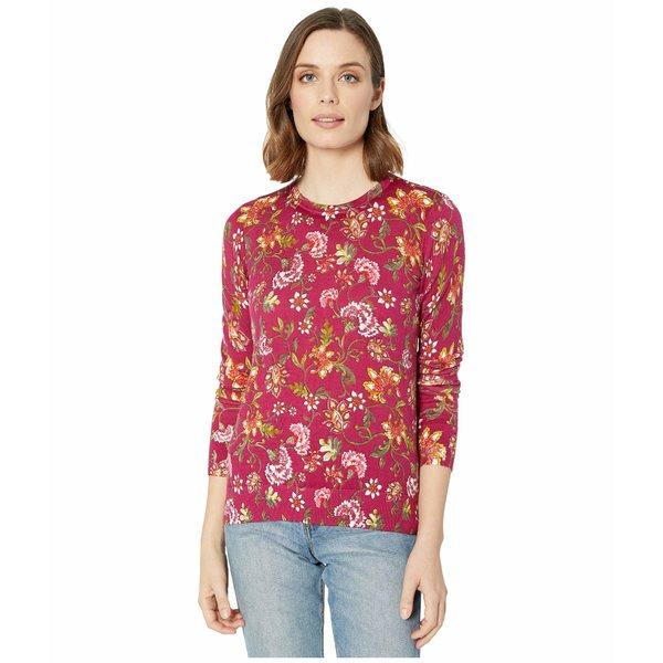 ラルフローレン レディース パーカー・スウェットシャツ アウター Floral Cotton-Blend Sweater Bright Fuchsia/Multi