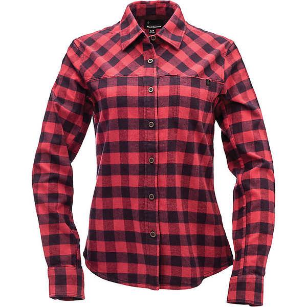 ブラックダイヤモンド レディース シャツ トップス Black Diamond Women's Spotter LS Flannel Shirt Ink Blue / Wild Rose Plaid
