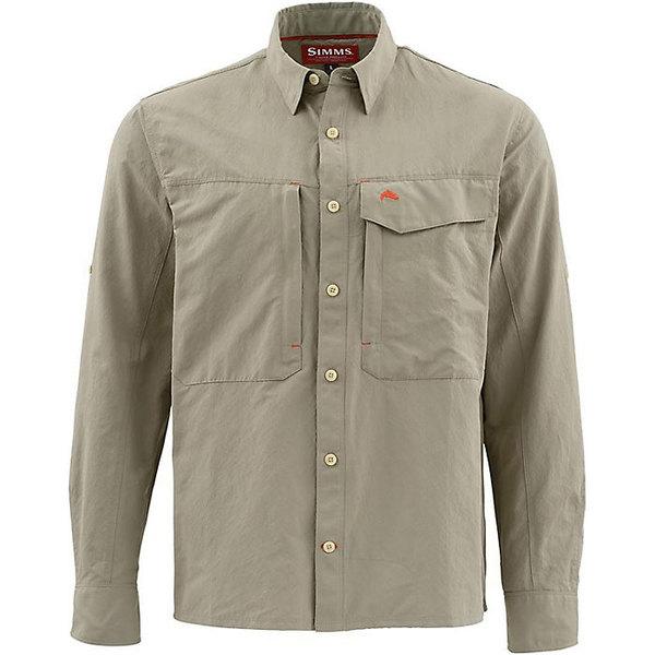 シムズ メンズ シャツ トップス Simms Men's Guide Solid LS Shirt Dark Khaki