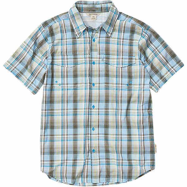 エクスオフィシオ メンズ シャツ トップス ExOfficio Men's Estacado SS Shirt Clear Blue