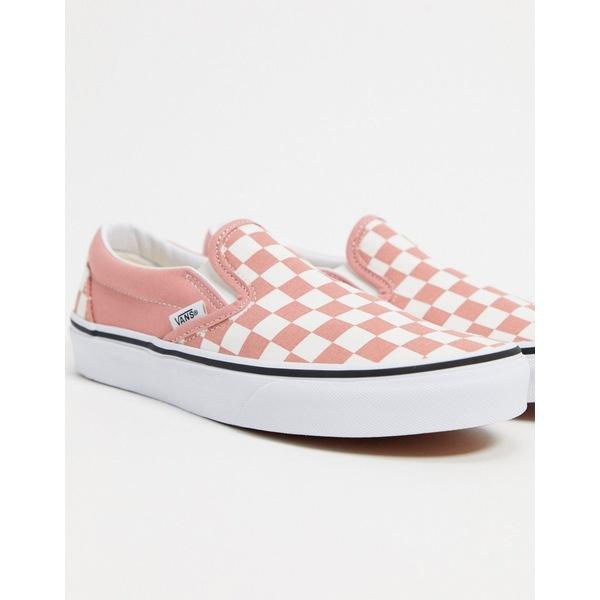 バンズ レディース シューズ 内祝い スニーカー checkerboard rose まとめ買い特価 全商品無料サイズ交換 check Slip-On in sneakers pink Vans