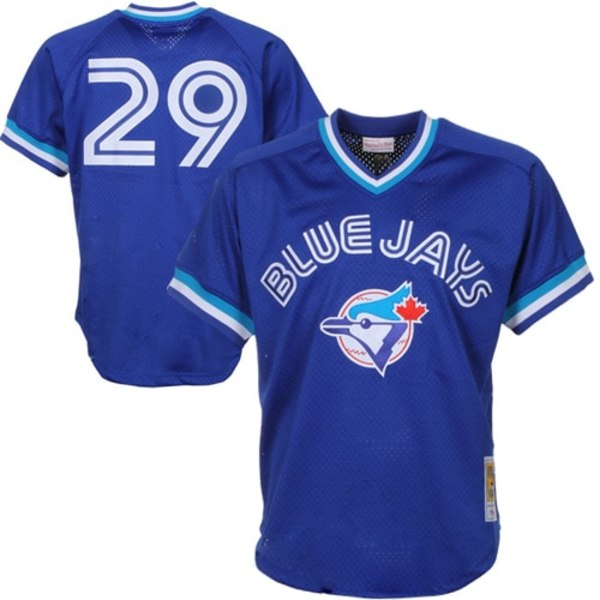 ミッチェル&ネス メンズ ユニフォーム トップス Joe Carter Toronto Blue Jays Mitchell & Ness 1993 Authentic Cooperstown Collection Mesh Batting Practice Jersey Royal