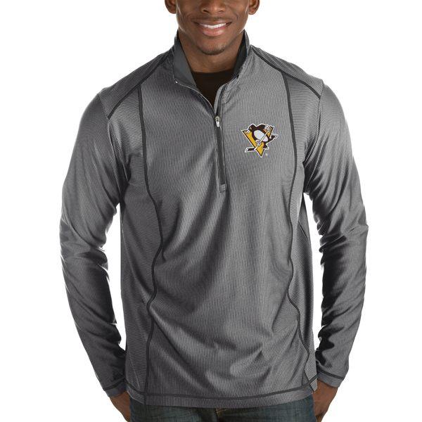 アンティグア メンズ ジャケット&ブルゾン アウター Pittsburgh Penguins Antigua Tempo Desert Dry HalfZip Pullover Jacket Black