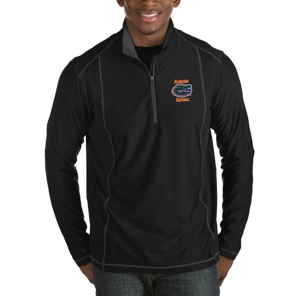 アンティグア メンズ ジャケット&ブルゾン アウター Florida Gators Antigua Tempo HalfZip Pullover Big & Tall Jacket Black