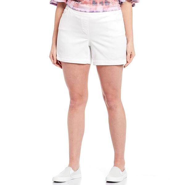 ウェストボンド レディース カジュアルパンツ ボトムス Plus Size the PARK AVE fit Shorts White