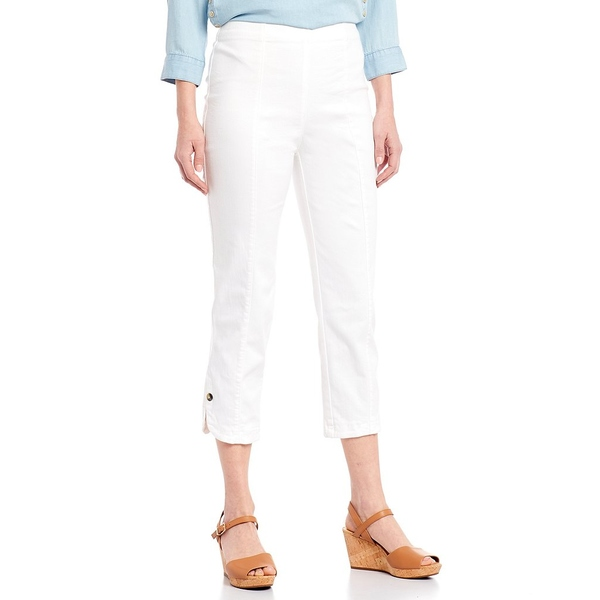 イントロ レディース カジュアルパンツ ボトムス Petite Size Nia Pull-On Curved Hem Capri Pants Freedom Bright White