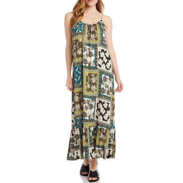 カレンケーン レディース ワンピース トップス Scoop Neck Safari Print Ruffle Hem Dress Print