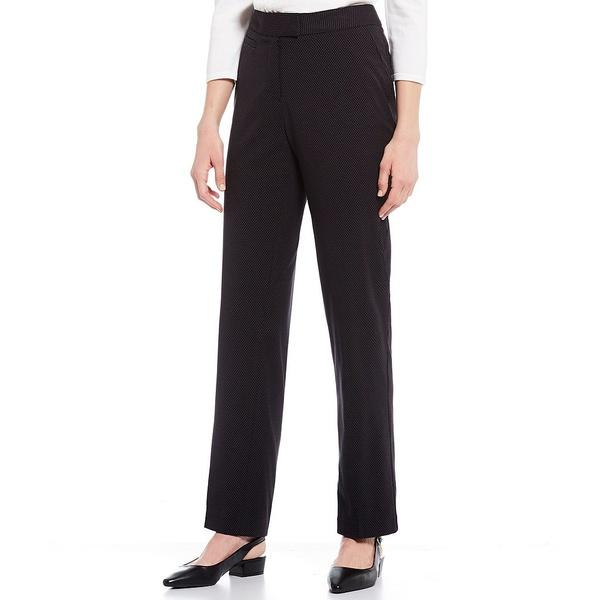インベストメンツ レディース カジュアルパンツ ボトムス the 5TH AVE fit Straight Leg Non-Wrinkle Two Way Stretch Pants Black/White Pin Dot