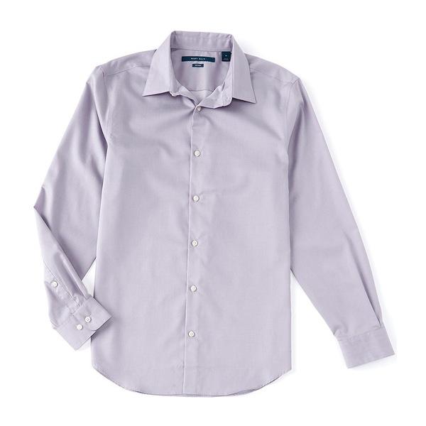 ペリーエリス メンズ シャツ トップス Non-Iron Solid Twill Long-Sleeve Woven Shirt Daybreak