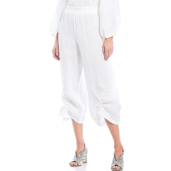 ブリンウォーカー レディース カジュアルパンツ ボトムス Ruched Light Linen Crop Pant White