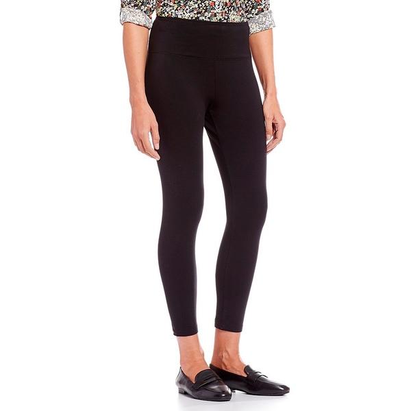 イントロ レディース レギンス ボトムス Petite Size Love the Fit Slimming Pull-On Leggings Ebony Black