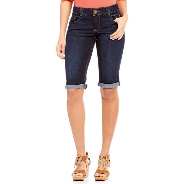 デモクラシー レディース カジュアルパンツ ボトムス #double;AB#double; Solution Roll-Cuff Bermuda Shorts Indigo