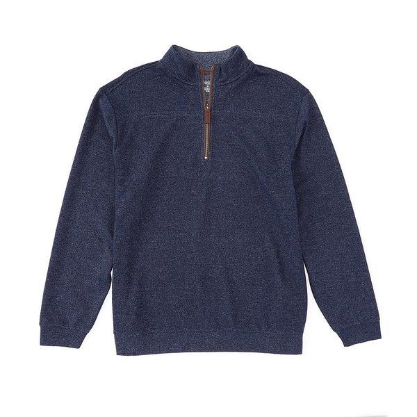 ランドツリーアンドヨーク メンズ ニット&セーター アウター Long-Sleeve Quarter Zip Pullover Dark Navy