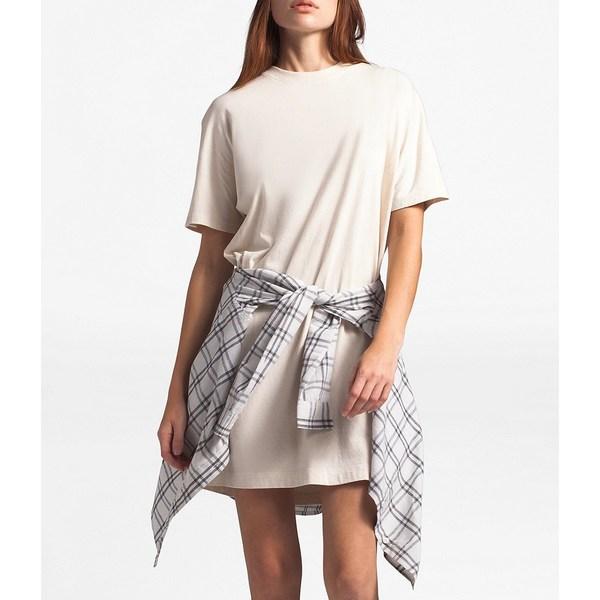 ノースフェイス レディース ワンピース トップス Woodside Hemp T-Shirt Dress Raw Natural