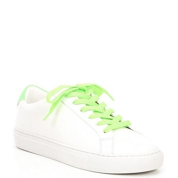 カートジェイガー レディース スニーカー シューズ Lane Leather Neon Lace-Up Sneakers Green Combo