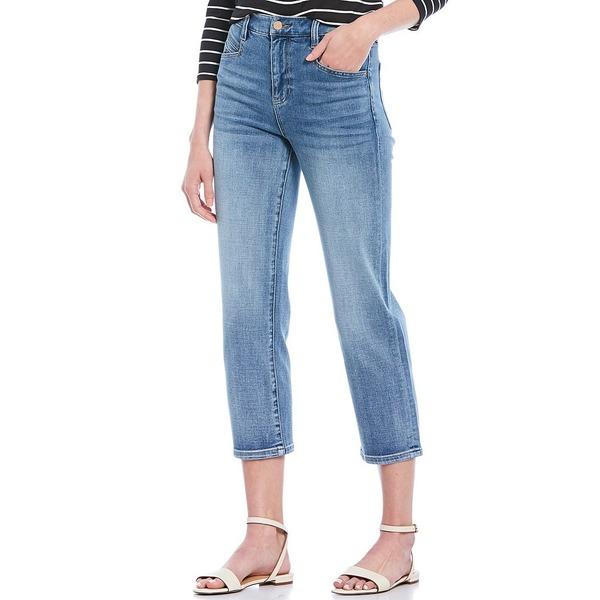 リバプールジーンズ レディース デニムパンツ ボトムス Hi-Rise Straight Leg Crop Jeans Thames