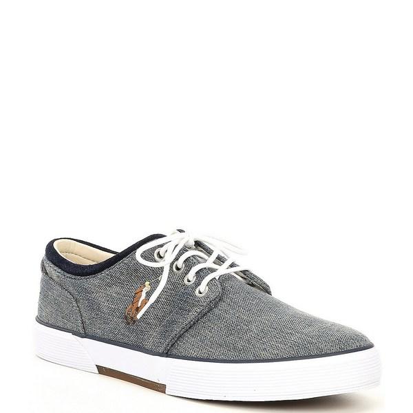 ラルフローレン メンズ スニーカー シューズ Men's Faxon Denim Lace-Up Sneakers Medium Blue