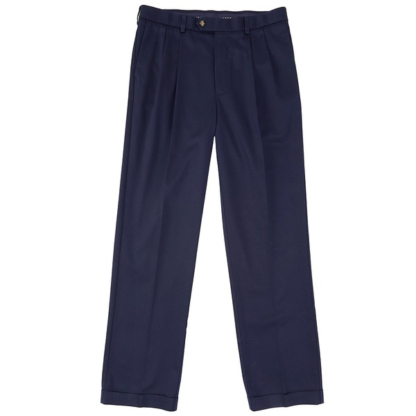 ランドツリーアンドヨーク メンズ カジュアルパンツ ボトムス TravelSmart CoreComfort Big & Tall Pleated Classic Relaxed Fit Chino Pants Dark Navy