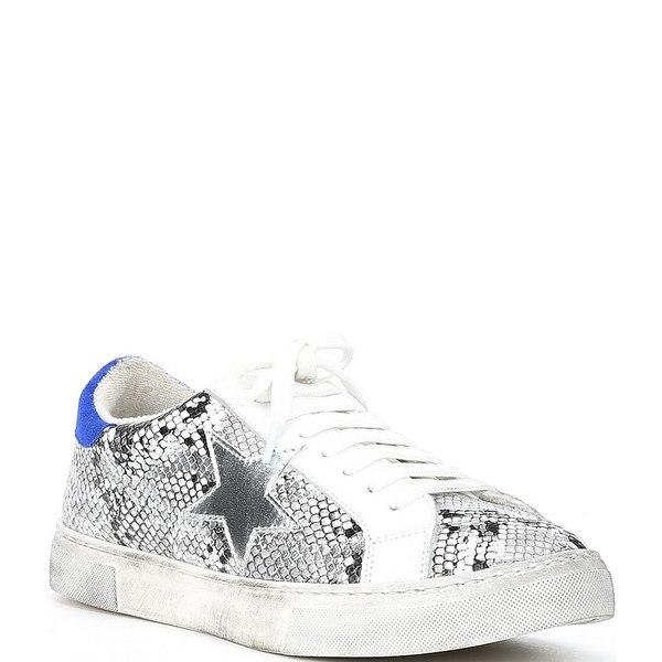 スティーブ マデン レディース スニーカー シューズ Steven by Steve Madden Rubie Star Snake Print Sneakers Black/White/Multi