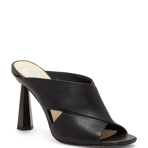 ヴィンスカムート レディース サンダル シューズ Averessa Leather Sculpted Heel Slides Black