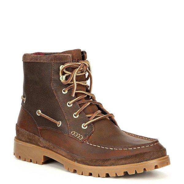 スペリー メンズ ブーツ&レインブーツ シューズ Men's Authentic Original Waterproof Leather Lug Boot Brown