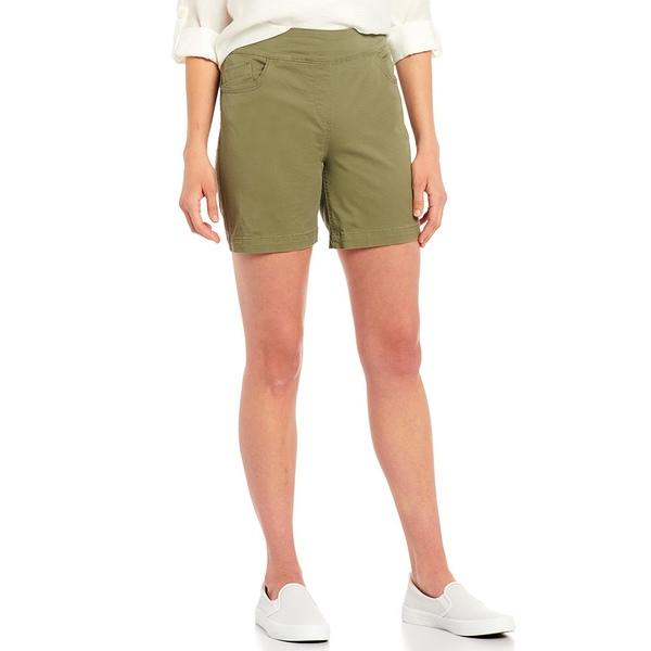 ウェストボンド レディース カジュアルパンツ ボトムス Petite Size the PARK AVE fit Pull-On Shorts Deep Lichen Green