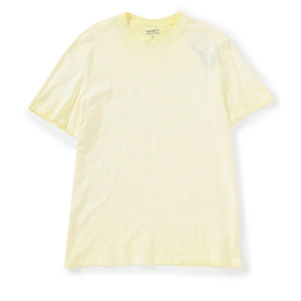 クレミュ メンズ Tシャツ トップス Jeans Pigment Dye Slub Short-Sleeve Tee Lemon Meringue