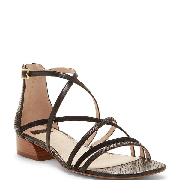 ルイスエシー レディース サンダル シューズ Louise Et Cie Eleri Strappy Square Toe Block Heel Sandals Black