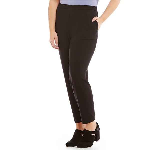 エイリーンフィッシャー レディース カジュアルパンツ ボトムス Plus Slim Ankle Pants with Pockets Black