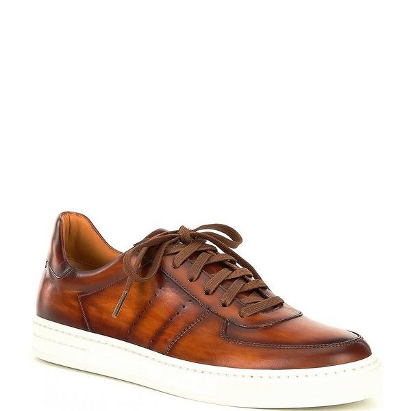 マグナーニ メンズ スニーカー シューズ Men's Jairo Leather Sneakers Cuero