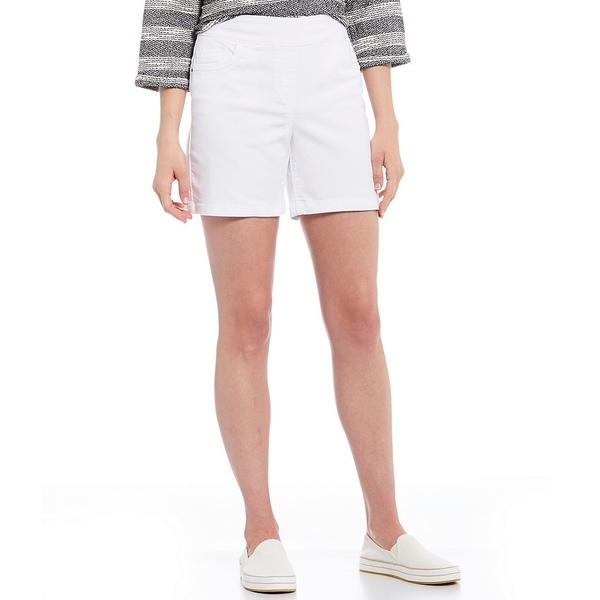 ウェストボンド レディース カジュアルパンツ ボトムス Petite Size the PARK AVE fit Shorts White