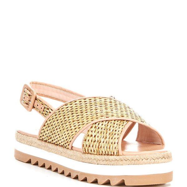 シュッツ レディース サンダル シューズ Aiyana Woven Flatform Sandals Natural/Honey