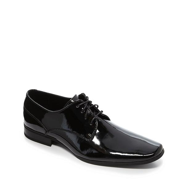 カルバンクライン メンズ ドレスシューズ シューズ Men's Brodie Patent Leather Dress Shoes Black