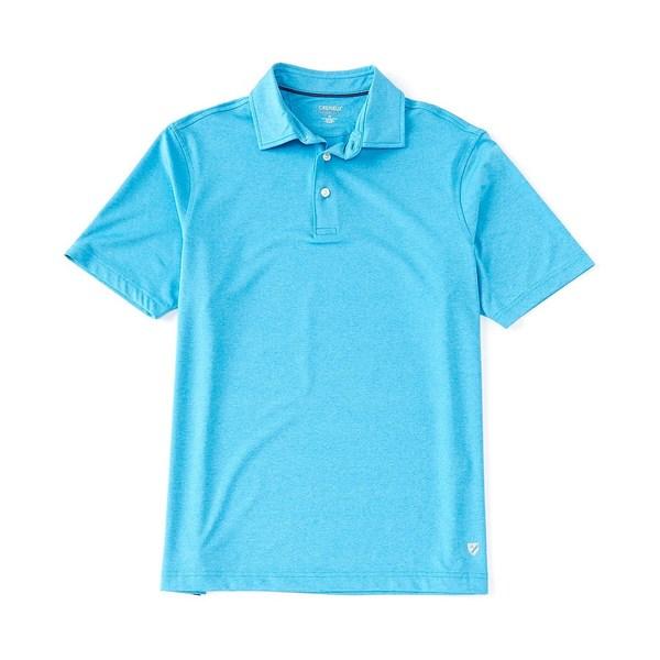 クレミュ メンズ ポロシャツ トップス Performance Solid Heather Short-Sleeve Polo Shirt Turquoise