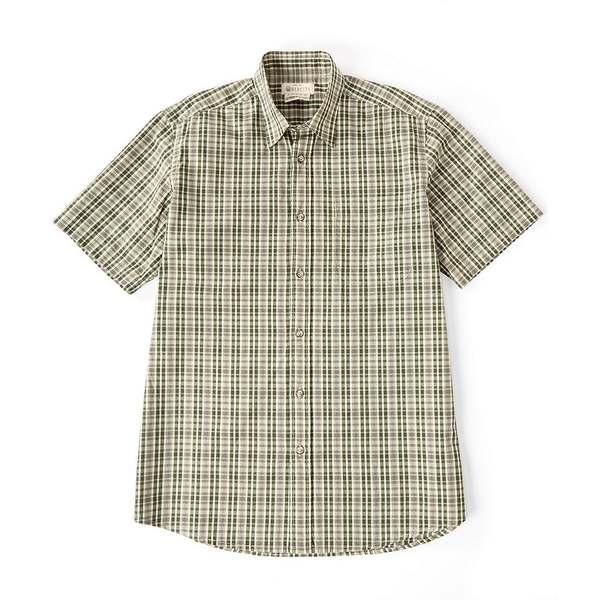 ベレッタ メンズ シャツ トップス Trail Short-Sleeve Woven Shirt Green Beige Check