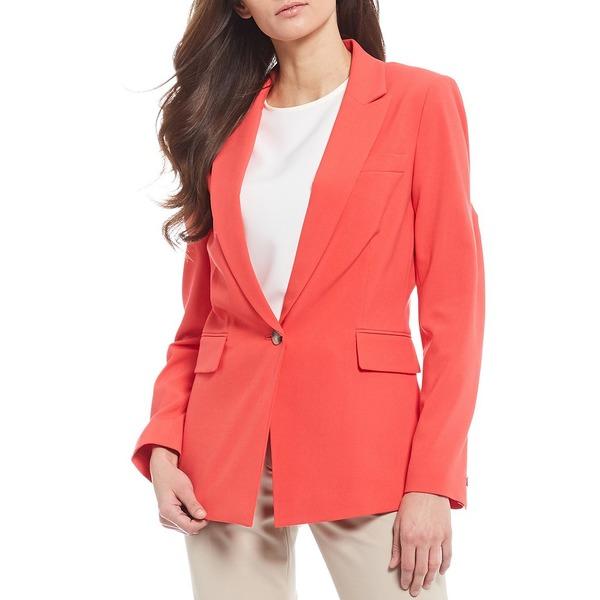 アレックスマリー レディース ジャケット&ブルゾン アウター Lena Crepe Twill Bi-Stretch Machine Washable Jacket Bright Melon
