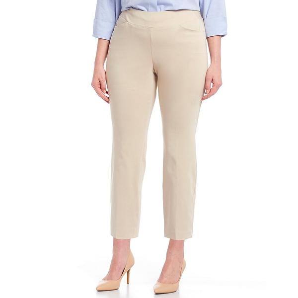 インベストメンツ レディース カジュアルパンツ ボトムス Plus Size the PARK AVE fit Elite Stretch Ankle Pants Sand
