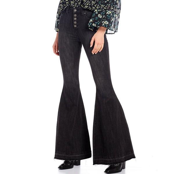 フリーピープル レディース デニムパンツ ボトムス Irreplaceable Flare Jean Galaxy Black