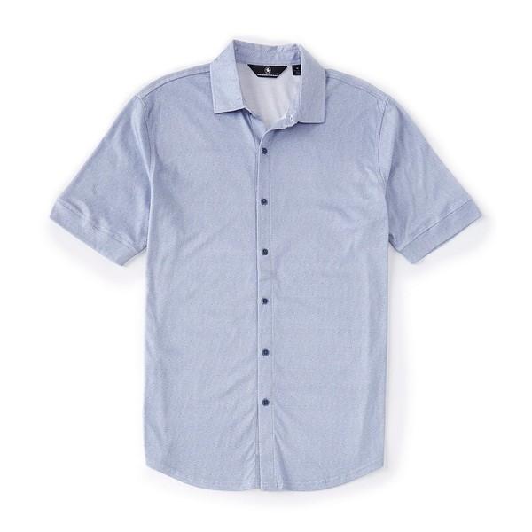 ハートシャファネールマークス メンズ シャツ トップス Short Sleeve Maze Print Coatfront Denim blue