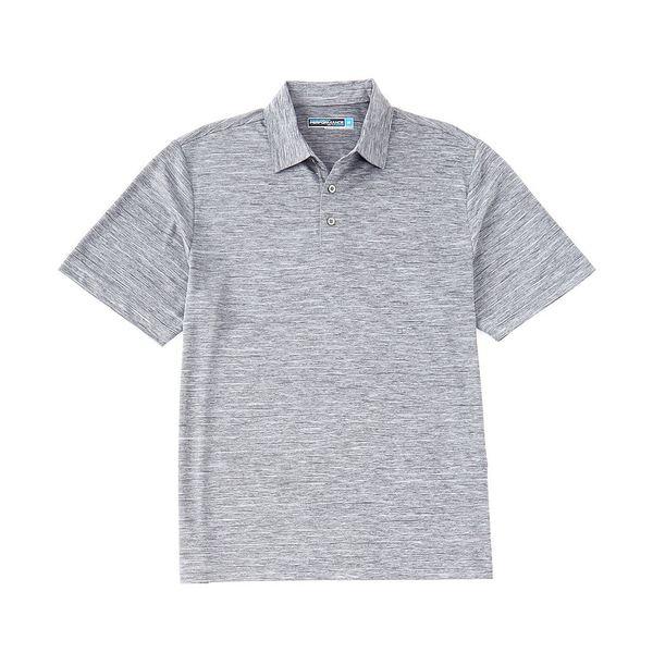 ランドツリーアンドヨーク メンズ ポロシャツ トップス Performance Short-Sleeve Striped Polo Turbulance