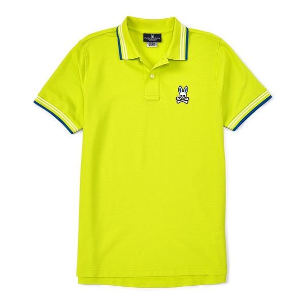 サイコバニー メンズ ポロシャツ トップス Chalton Short-Sleeve Polo Shirt Limelight