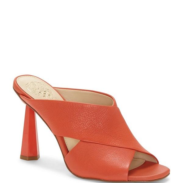 ヴィンスカムート レディース サンダル シューズ Averessa Leather Sculpted Heel Slides Candy Coral