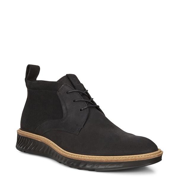 エコー メンズ ブーツ&レインブーツ シューズ Men's St.1 Hybrid Leather Chukka Black