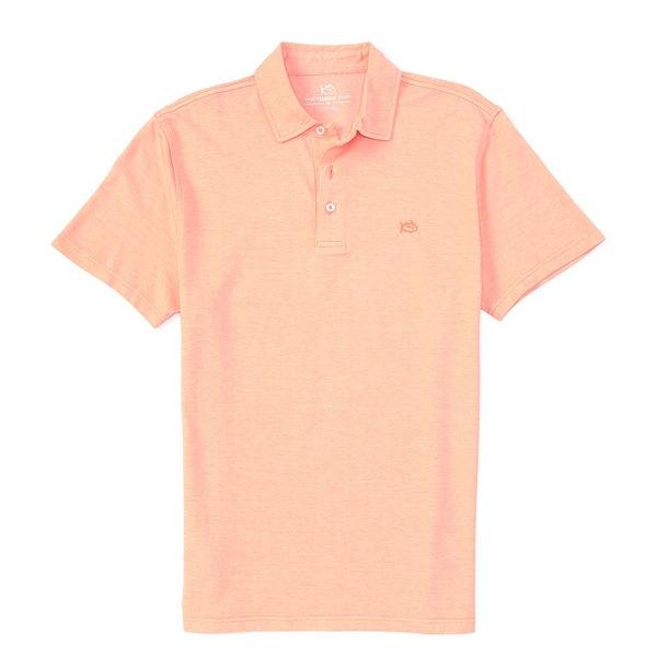 サウザーンタイド メンズ ポロシャツ トップス Pecan Grove Jacquared Short-Sleeve Polo Shirt Mango