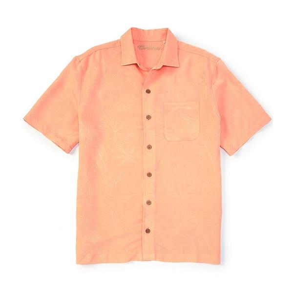 カリビーン メンズ シャツ トップス Bird of Paradise Short-Sleeve Woven Shirt Peach
