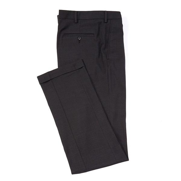 ランドツリーアンドヨーク メンズ カジュアルパンツ ボトムス Big & Tall TravelSmart Fancy Pattern Pleated Dress Pants Black