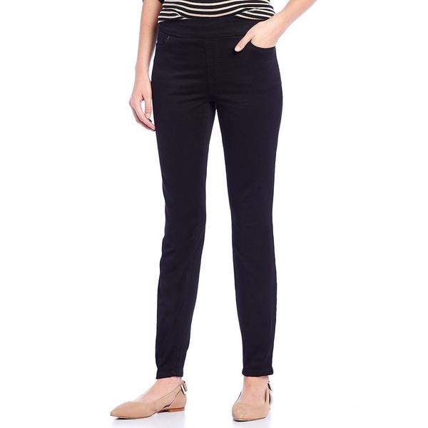 ウェストボンド レディース カジュアルパンツ ボトムス Petite Size the HIGH RISE fit Pull-On Skinny Pants Black