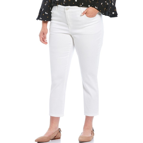 コードブリュー レディース カジュアルパンツ ボトムス Plus Size Classic Capri Bright White